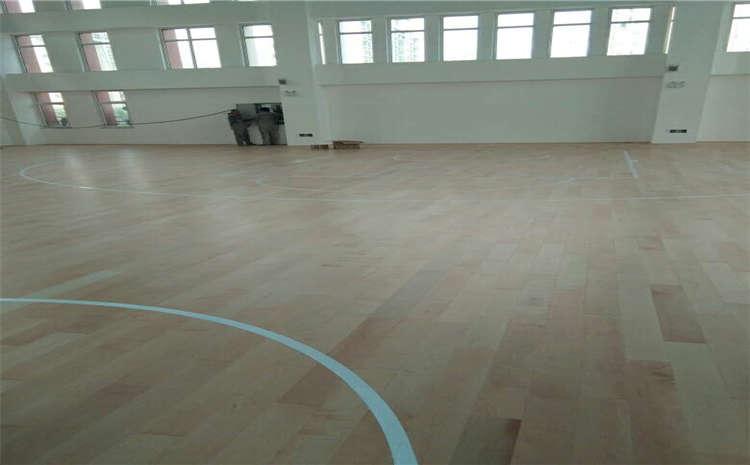 企口舞蹈室木地板安装