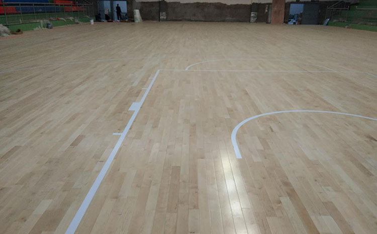 重庆枫木实木运动地板施工方案