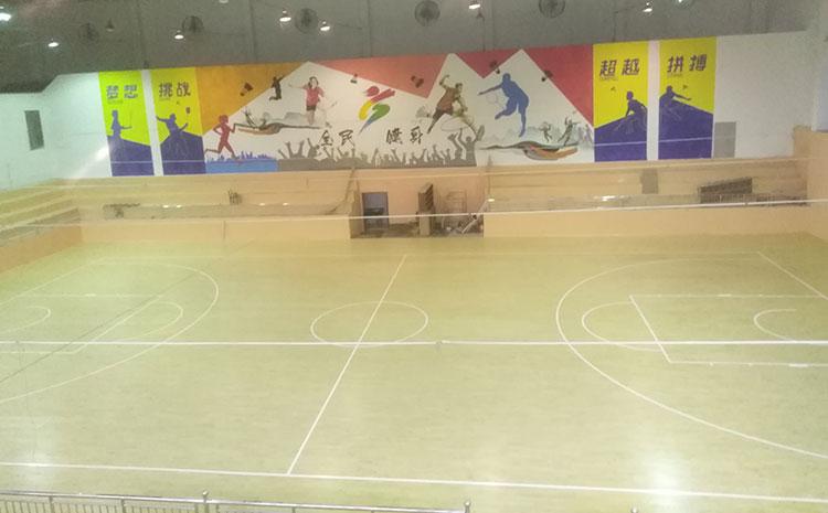 海南专用体育木地板打磨翻新