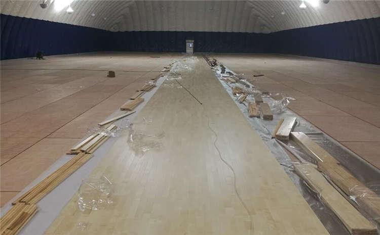 南昌企口体育场地板怎么安装