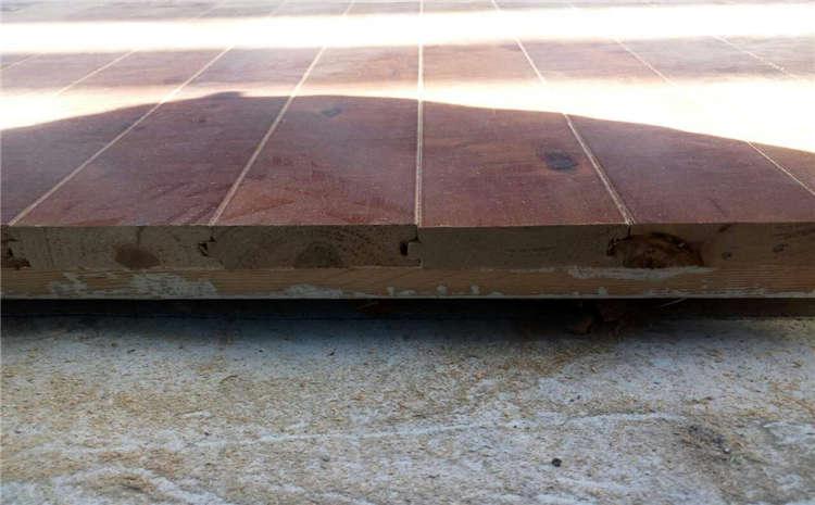 云南硬木企口体育场地板施工