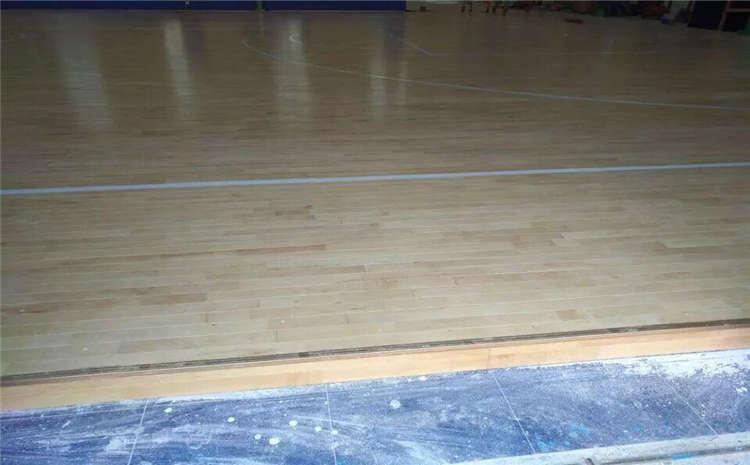 江西枫桦木体育木地板施工工艺